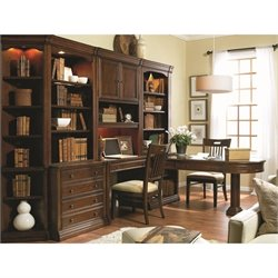 Hooker Furniture Cherry Creek Home Office Desk Wall Set in Brown
