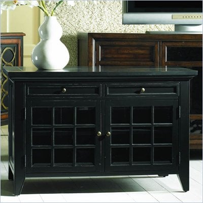 Hooker Furniture Fairview Entertainment Console in Ebony Finish
