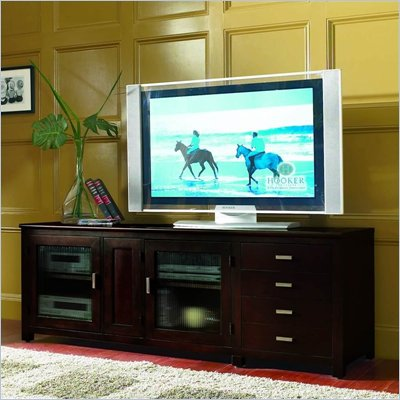 "Hooker Furniture Mirabel 73"" Entertainment Console in Rich Espresso Finish"