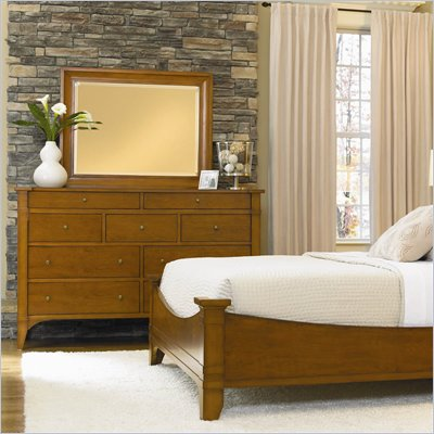 Hooker Furniture Abbott Place Nine-Drawer Dresser in Natural Cherry
