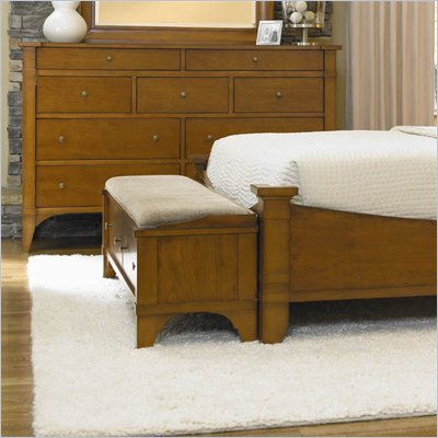 Hooker Furniture Abbott Place Two-Drawer Bench in Natural Cherry