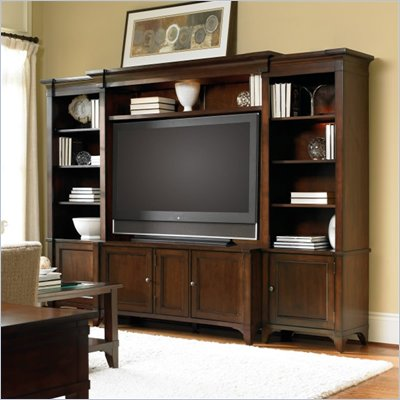 Hooker Furniture Abbott Place Entertainment Center in Warm Cherry