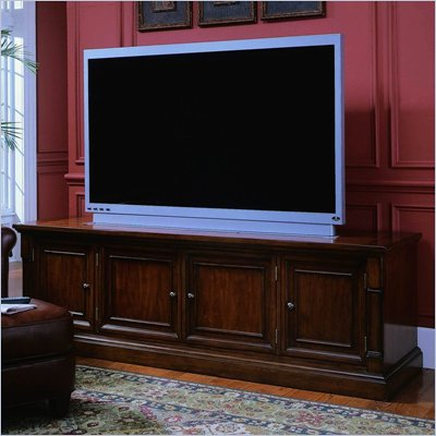 "Hooker Furniture Beacon Square 82"" Entertainment Console in Cherry Finish"