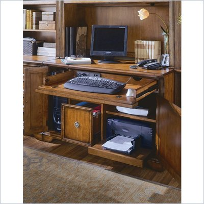 Hooker Furniture Brookhaven 48 Inch Computer Desk in Clear Cherry