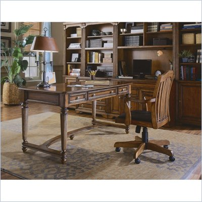 Hooker Furniture Brookhaven Leg Desk in Clear Cherry Finish