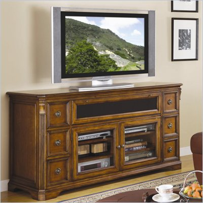 "Hooker Furniture Brookhaven 68"" Entertainment Console in Clear Cherry"