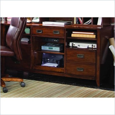 Hooker Furniture Danforth Open Credenza in Rich Medium Brown