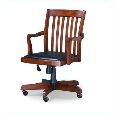 Hooker Furniture Danforth Desk Chair in Rich Medium Brown