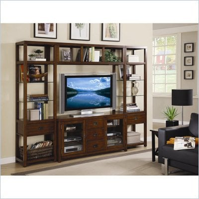 Hooker Furniture Danforth Home Theatre Wall Group w/ 56 inch Console