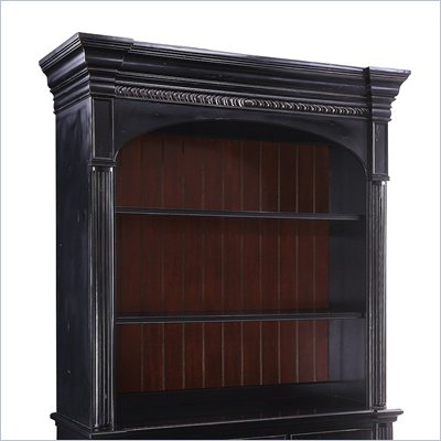 Hooker Furniture New Castle II Entertainment Console Hutch in Black