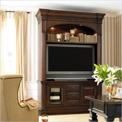 "Hooker Furniture New Castle II Gaming Console 65"" in Rich Warm Brown"