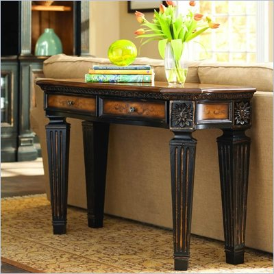 Hooker Furniture North Hampton Wood Top Sofa Table in Black Finish