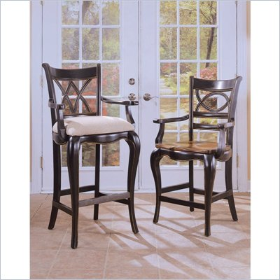Hooker Furniture Preston Ridge Double X Back Counter Stool w/ Cushion