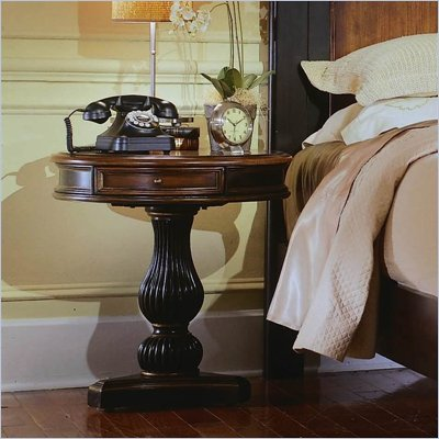 Hooker Furniture Preston Ridge Round Pedestal Nightstand