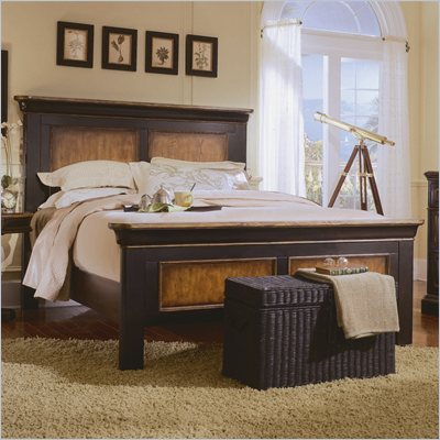 Hooker Furniture Preston Ridge King Panel Bed in Cherry/Mahogany