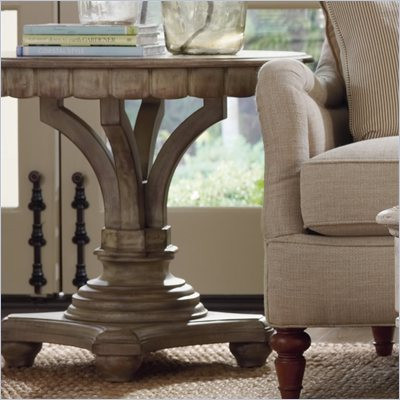 Hooker Furniture Primrose Hill Pedestal Accent Table in Garden Grove