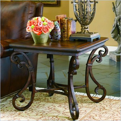 Hooker Furniture San Rafael Stone Top Square End Table