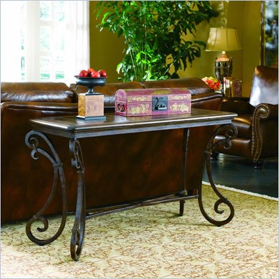 Hooker Furniture San Rafael Rectangular Stone Top Sofa Table