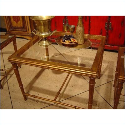 Hooker Furniture Seven Seas Rectangular Cocktail Table in Gold Leaf 