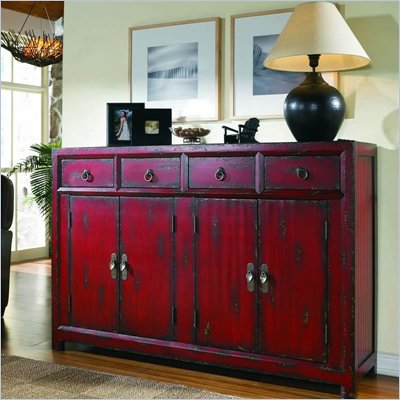 Hooker Furniture Seven Seas 58&quot; Red Asian Cabinet