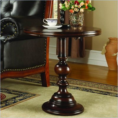 "Hooker Furniture Seven Seas 24"" Round Pedestal Accent Table"