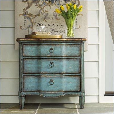 Hooker Furniture Seven Seas Three Drawer Turquoise Chest Console