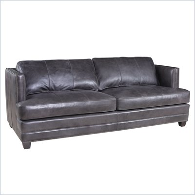 Hooker Furniture Seven Seas Stationary Sofa in Zorro Carbon
