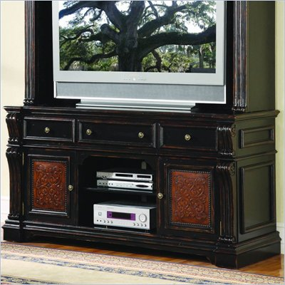 "Hooker Furniture Telluride 71"" Entertainment Console w/ Leather Panels"