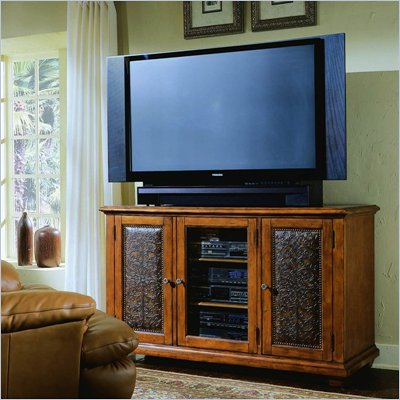 Hooker Furniture Telluride 60&quot; Entertainment Console w/ Leather Doors 