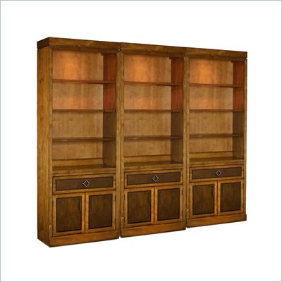 Hooker Furniture Trilogy Wall Bookcase with Door and Drawer
