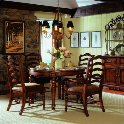 Hooker Furniture Waverly Place 48&quot; Round Leg Dining Table in Cherry