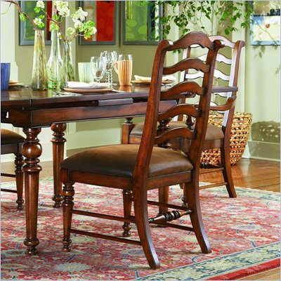 Hooker Furniture Waverly Place Ladderback Side Chair in Cherry