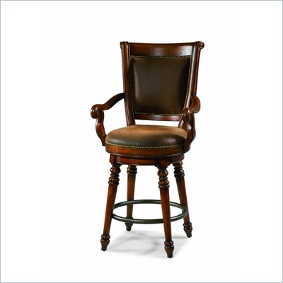 Hooker Furniture Waverly Place Swivel Counter Stool in Cherry