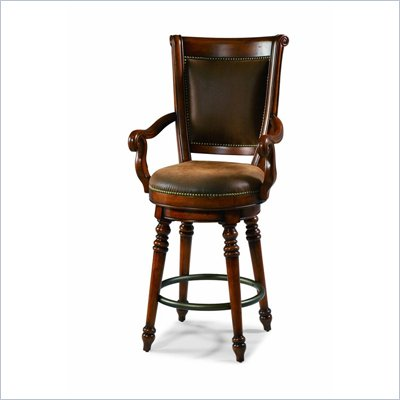 Hooker Furniture Waverly Place Swivel Bar Stool in Cherry