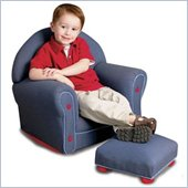 KidKraft Denim Rocker with Ottoman Set
