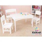 KidKraft Nantucket Table with Bench and 2 Chair Set
