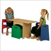 KidKraft Natural Table with Primary Benches