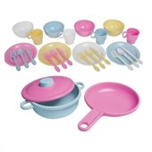 KidKraft 27 Piece Kitchen Dish Play set in Pastel