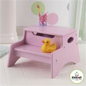 KidKraft Step 'n Store Kids Step Stool in Pink