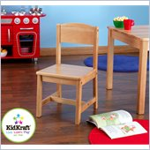 KidKraft Aspen 12 Single Wood  Seating Chair in Natural
