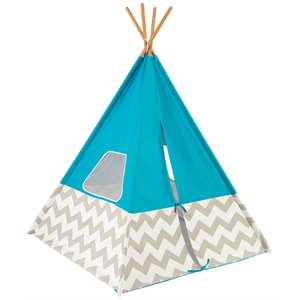 KidKraft Deluxe Play Teepee Tent in Turquoise