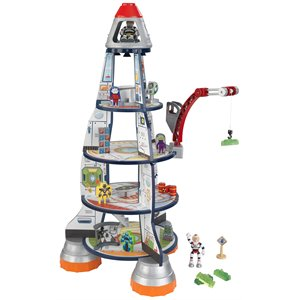 KidKraft Rocket Ship Play Set in Gray and Red