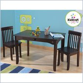 KidKraft Avalon Table and 2 Chair Set in Espresso