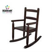 KidKraft 2-Slat Rocking Chair in Espresso