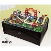 KidKraft Metropolis Table and Train Set