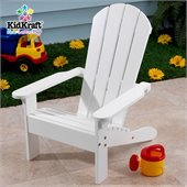KidKraft Adirondack All-Wood Chair in White