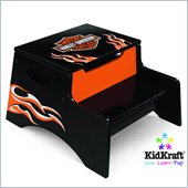 KidKraft Harley-Davidson Flames Step n Store Stool
