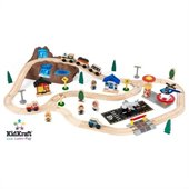 KidKraft Bucket Top Mountain 56 Piece Train Set