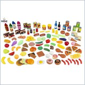 KidKraft Tasty Treats 125 Piece Play Food Set