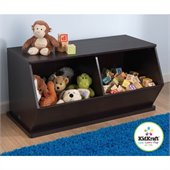 KidKraft Double Storage Unit in Espresso